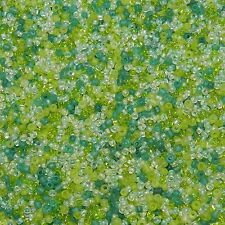 SBL3941h Spring Meadow 10/0 2mm Crystal & Green Glass Seed Bead Premium Mix 4oz