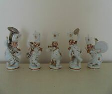 Porcelain Musicians Military Marching Band Saxophone Drum Tuba Cymbals P.A.E.S.A