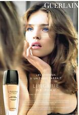 Publicité Advertising 2010 Maquillage Guerlain avec Natalia Vodianova