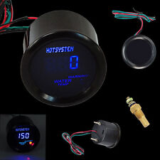 "Car Black 2"" 52mm Blue Digital LED Electronic Water Temp Gauge HOTSYSTEM"