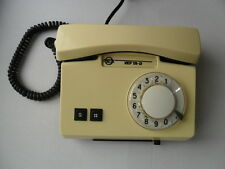 Vtg Soviet Rotary Dial Phone VEF TA-D Model Working Ivory Color