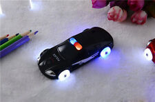 Black Small Mini Police Car Style Mobile Cell Phone W/Flashlight Kid Gift