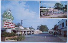 Vintage Chrome Two State Motel Texarkana Texas TX Postcard
