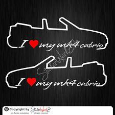 0411 | I Love my Golf MK4 Cabrio Satz Aufkleber | Sticker