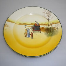 "Royal Doulton Series Ware ""COACHING DAYS  Pattern""  LUNCHEON  Plates"