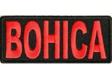LOT OF 2 - BOHICA - BEND OVER HERE IT COMES AGAIN EMBROIDERED BIKER PATCH