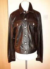 Armani Jeans Leather Jacket Size S - 40