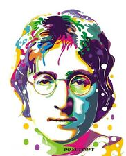 "PSYCHEDELIC POP ART JOHN LENNON A4 GLOSSY PHOTO POSTER 11.25"" X 8.25"" BEATLES"