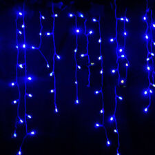 Icicle Hanging Snowing Curtain Fairy Lights Outdoor Christmas Wedding Party Lamp