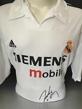Signed Roberto Carlos Rare Real Madrid 2002 Champions Home Shirt