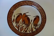 Art Deco style bowl by Keralouve with Storks