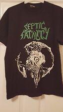 Para hombres Camiseta Top-Metal Music-séptico fatalidad Renacimiento-Negro y verde-M