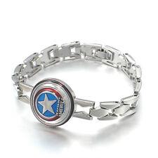 Braccialetti di alta qualità Film The Avengers Capitan America logo braccialetto gioielli