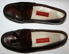 COLE HAAN MEN'S LEATHER DRESS SHOES FLATS SLIP ON TASSEL LOAFERS RED BROWN 8.5