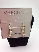 $48 Marchesa Simulated Pearl Crawlers Earrings