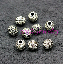 Tibetan Silver Bail Style Spacer Beads Findings 6.5x6mm 30-1000pcs hole 2mm