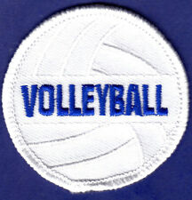 """VOLLEYBALL"" (2"") -  SPORTS BALL - SPORTS - COMPETE/Iron On Embroidered Patch"