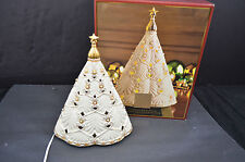 LENOX FLORENTINE & PEARL LIGHTED MUSICAL CHRISTMAS TREE CENTER PIECE MINT IN BOX