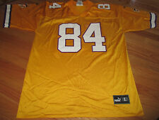 Vintage Puma RANDY MOSS No. 84 MINNESOTA VIKINGS (LG) Jersey YELLOW