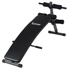 Costway Adjustable Arc-Shaped Decline Sit up Bench Crunch Board Fitness Workout