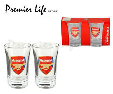 Oficial Del Club De Fútbol-Shot Glass Set (paquete De 2) Arsenal (Vasos, bebida)