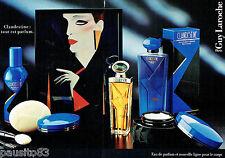 PUBLICITE ADVERTISING 115  1988  GUY LAROCHE  parfum gel moussant déodorant (2p)