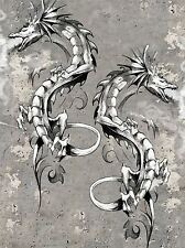 Impression artistique Peinture Dessin Dragon Fantasy Monster tattoo design lfmp1020