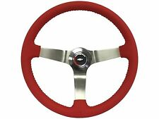 1967 - 1968 Red Leather Steering Wheel Full Kit, GM Wood Wheel Option