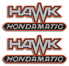 HONDA HAWK CB400 CB400A SIDE COVER HAWK HONDAMATIC ONLY DECALS GRAPHICS