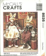 """Reduced!  McCall's 8035 """"Hop to It"""" 34"""" Bunnies & Clothes Pattern"""