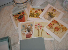 A pack of six cards and envelopes .water colours by claire sprawson