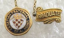 Vintage Croatian Fraternal Union of America Graduate Pin
