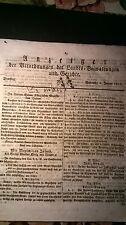1811 1 Anzeiger / Jude Abraham Wolf Wilhermsdorf / Billing aus Unterfeldbrecht