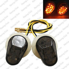 US Stock Flush Mount LED Turn Signals Light For Yamaha FZ1/FZ6 YZF R1/R6 Smoke B