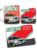 Fiat 131 Rally Car Collection Mug, Coaster & Mouse Mat