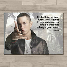 Eminem quote art inspirational. A4 Canvas paper poster print.