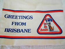 Vintage Souvenir Greetings from Brisbane Carry Bag New Condition