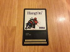 HANG ON SEGA MASTER SYSTEM GAME CARD