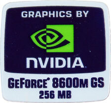 NVIDIA GEFORCE 8600M GS 256MB  STICKER LOGO AUFKLEBER 18x18mm (335)