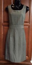 H & M Black & White Lined Tweed Dress ~ Women's Size 8