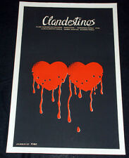 "1987 Original Cuban Movie Poster PLUS Boceto.Mockup""Clandestinos""art History"
