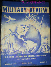MILITARY REVIEW 36 US ARMY COMMAND & GENERAL STAFF COLLEGE FORT LEAVENWORTH 1957