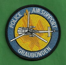 GRAUBUNDEN SWITZERLAND POLICE HELICOPTER AIR SUPPORT UNIT PATCH