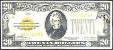 1928 $20 pure Gold Certificate-You Must L@K