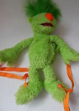 THE HOOBS GROOVE GREEN SOFT PLUSH BACKPACK JIM HENSON COMPANY LTD.
