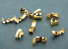 Vintage Lot of 10 Brass Fold Over Clasp  Jewelry Findings