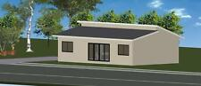 The Seascape 96 - DIY Granny Flat - On Galvanised Chassis - 96m2 - 3 Bed 2 Bath