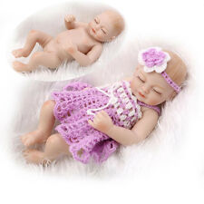Eyes Closed Reborn Baby Girl Doll Full Body Soft Silicone Preemie Gift