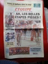 journal  l'équipe 11/07/96 CYCLISME TOUR DE FRANCE 1996 ROMINGER INDURAIN