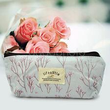 Trousse Sac Pochette Fleur Tissu De Crayon Stylo Maquillage Rangement Pinceaux